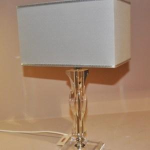 LAMPADA IN CRISTALLO  RETTANGOLARE