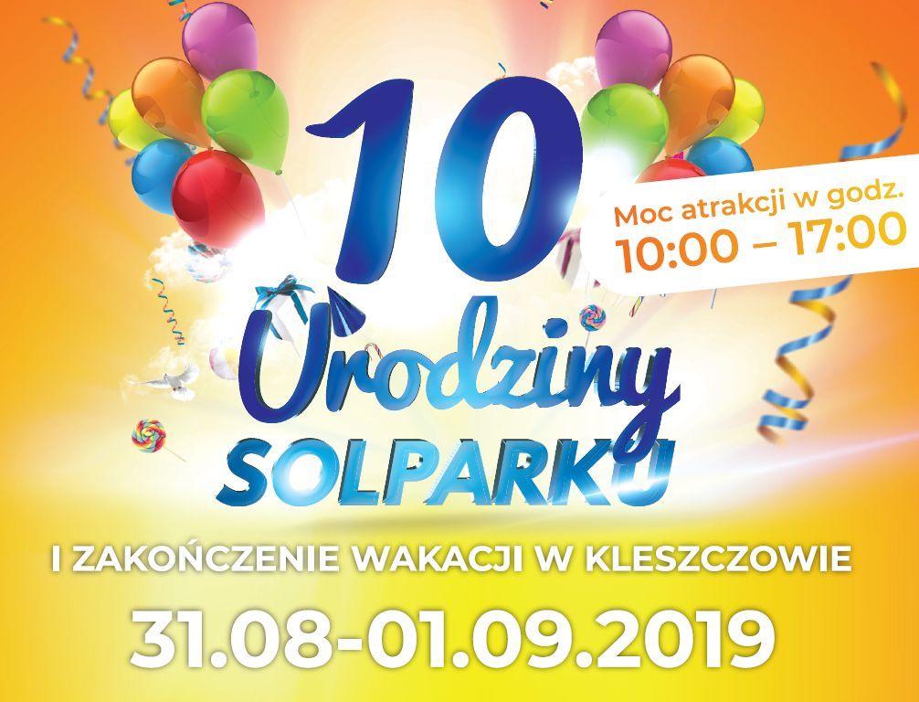 10 urodziny SOLPARKu - plakat