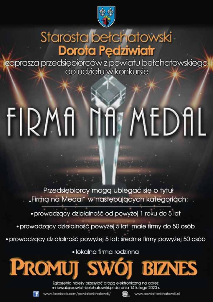 Firma na medal - plakat