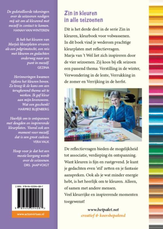 Kleurplaten Seizoen Winter.Zin In Kleuren In Alle Seizoenen Kleurboek Voor Volwassenen Met Prikkelende Vragen