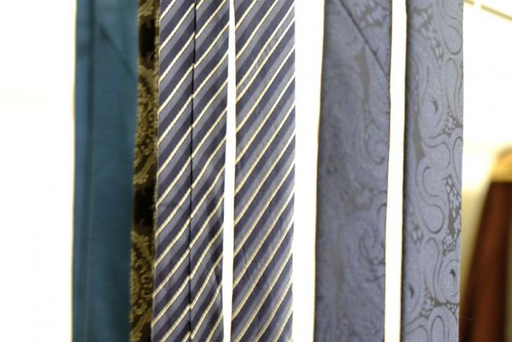 Paisley, gestreift, uni – Krawatten ohne zugehörigen Träger