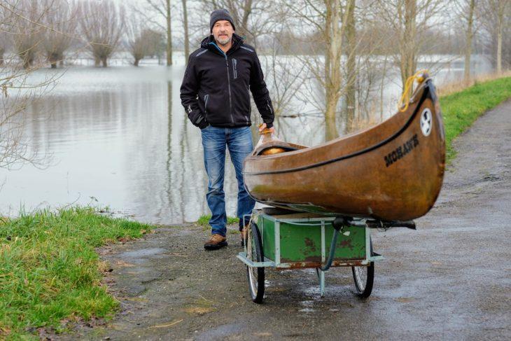 Walter Röhrig und sein Kanu: Einsame Mission zwischen Rhein und Altrhein