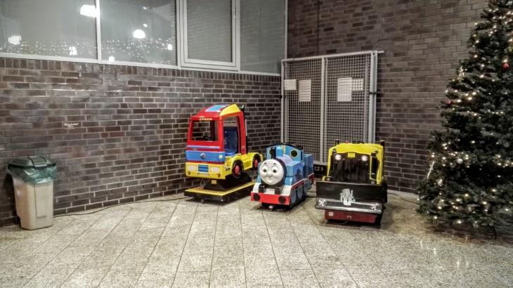 In der Neuen Mitte in der Mitte: Thomas, die fantatstische Lokomotive