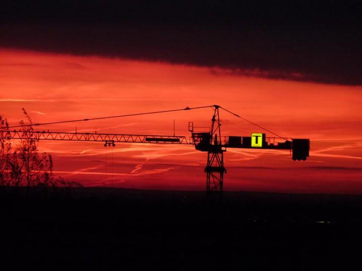 Morgenröte, nicht zu steigern (Foto © Wiltrud Schnütgen)