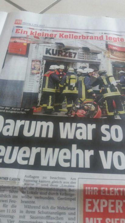 Das Düsseldorfer Polizeireporter-Urgestein Günther Claassen berichtete über den Brand, der die Altstadt am 30. April für einige Stunden lahmlegte