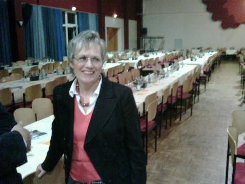 Das Lächeln der Siegerin: Margret Voßeler nach der Wahl