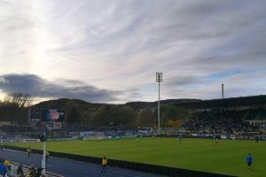Fußballstadion - Blick ins Ernst-Abbe-Stadion