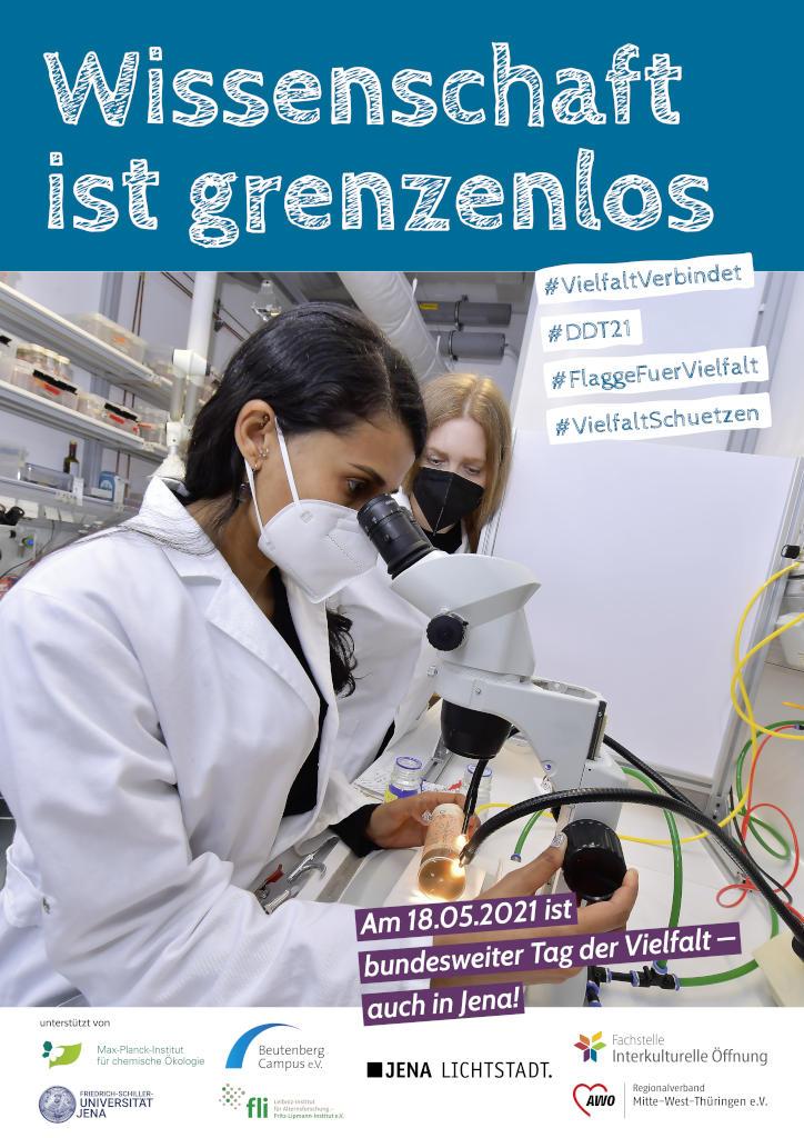 Wissenschaft ist grenzenlos - Plakat zum Tag der Vielfalt