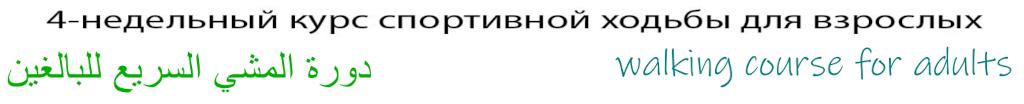 4-wöchiger Walking-Kurs für Erwachsene in Russisch, Arabisch und Englisch