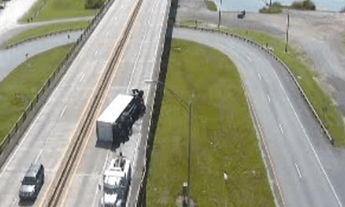 UPDATE: All lanes have re-opened following 18 wheeler crash