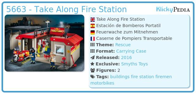 playmobil set 5663 take along fire