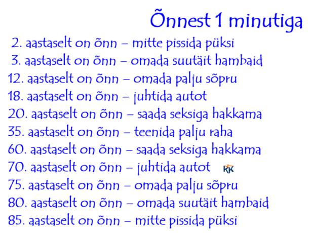 619 - õnnest 1 minutiga