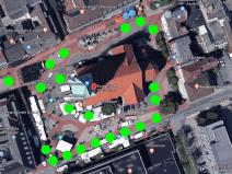 Marktplatz an der Pauluskirche mit neuen Bäumen