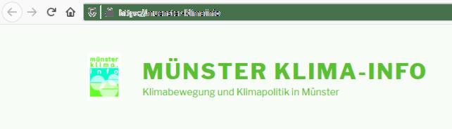 Quelle: Homepage muenster-klima.info