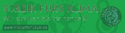 Bannder von FFF Deutschland