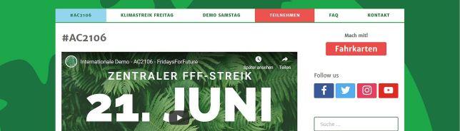 Slider FFF-Streik Aachen 21.06.2019