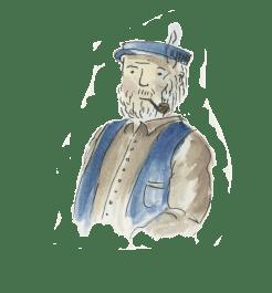 Früher Entwurf: Opa Willie