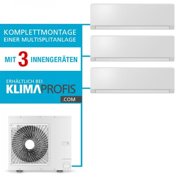 Montageservice Einer Multisplit Klimaanlage Mit 3 Inneneinheiten Montageservice Klimagerate Klimaprofis