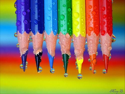 Colorida imagen lapices de colores