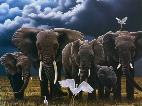 Imagen de fantasia de elefantes
