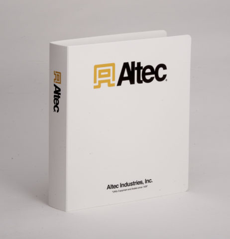 Custom Full Color 3 Ring Polly Binder Altec Industries, Inc