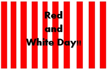Image result for red & white day