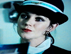 Prudence disguised as a stewardess.