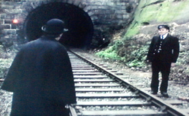 The Signalman at the tunnel