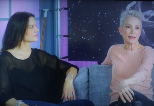 Terry Farrell and Nana Visitor