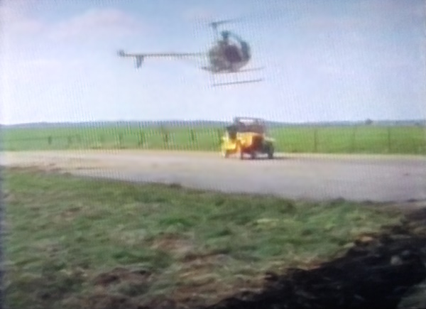 Bessie and helicopter