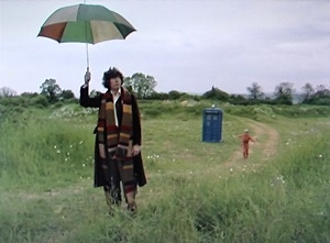 Doctor with umbrella