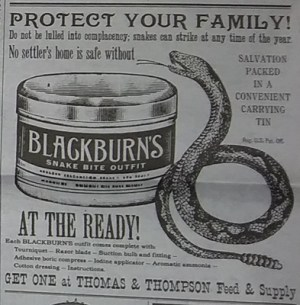 Ad for snakebite remedy
