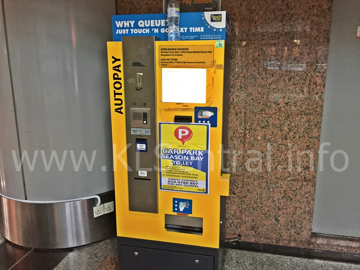 KL Sentral Automatic ticket payment machine Level 1