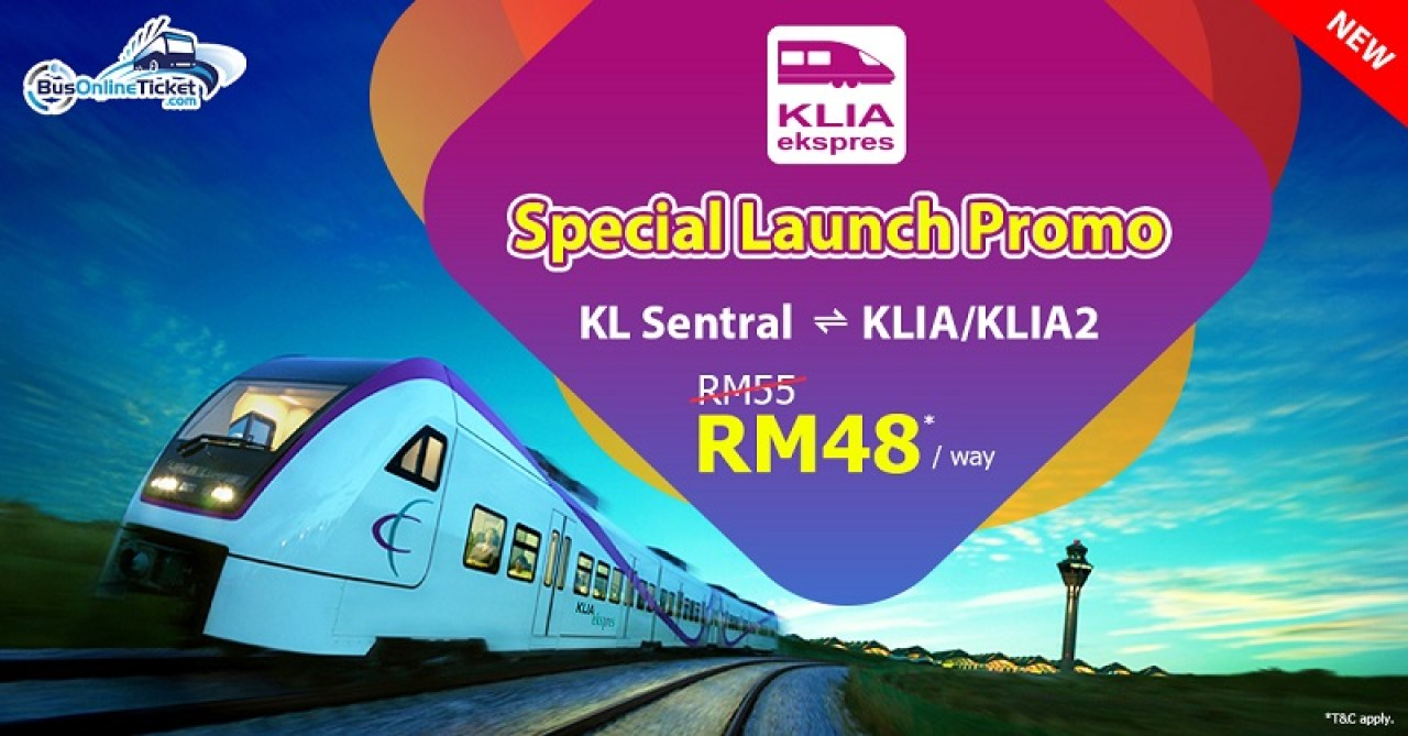 KLIA Express ticket via BusOnlineTicket