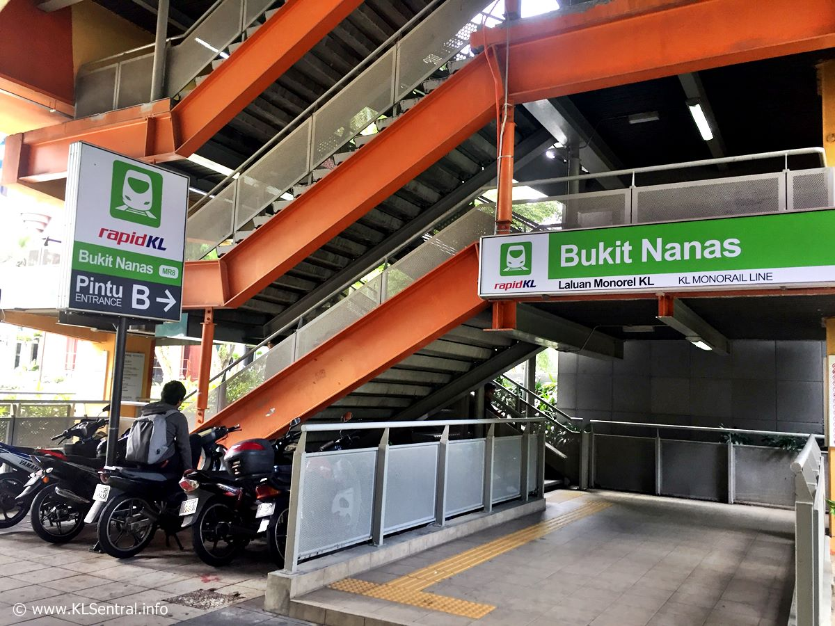 Bukit Nanas Monorail Station Entrance