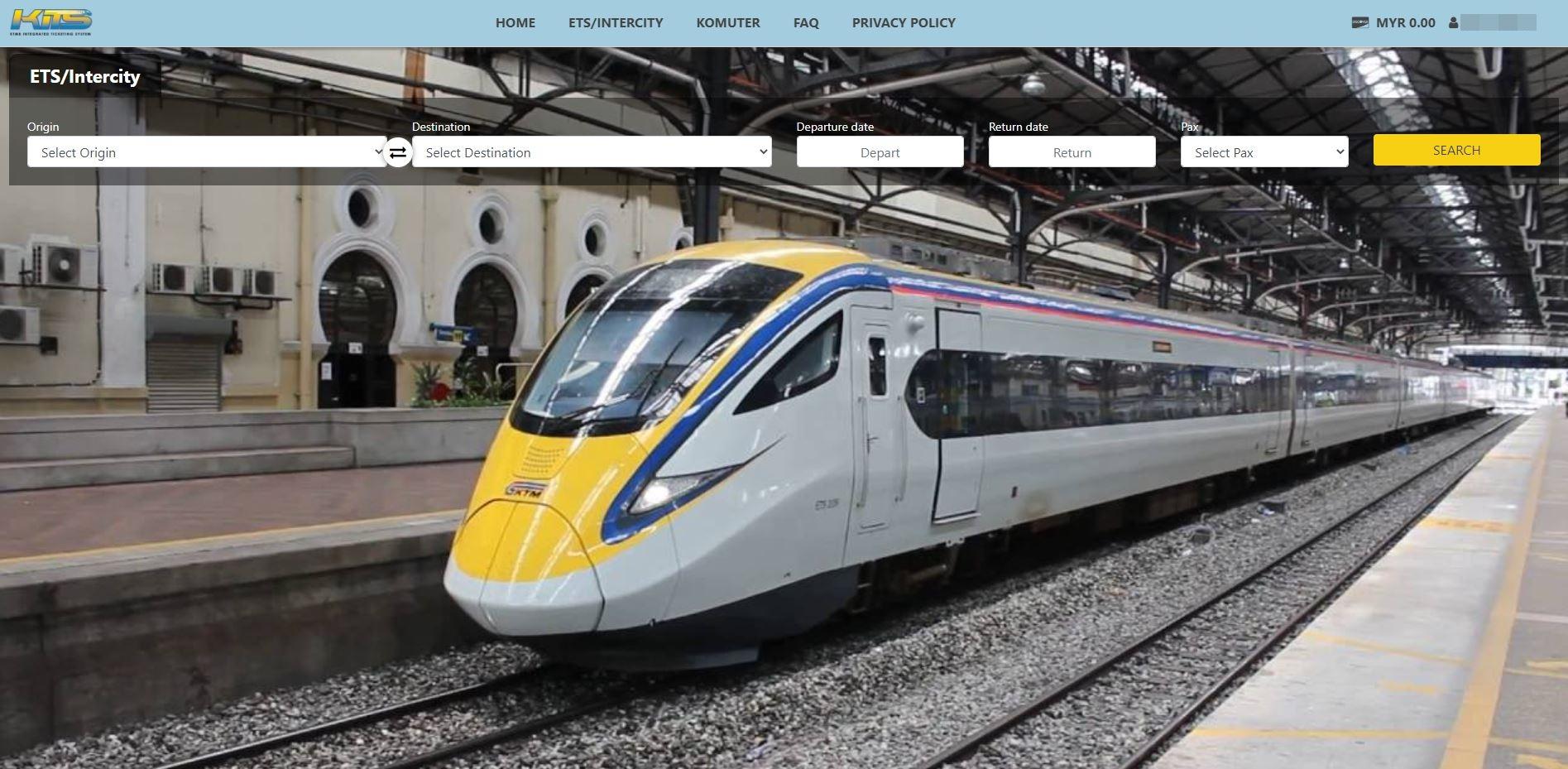 KITS KTMB ETS Train Ticket Official Website