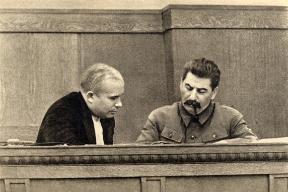 Józef Stalin i Nikita Chruszczow, 1936