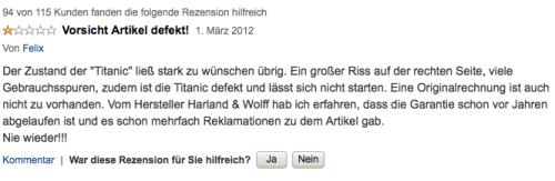 Produkt-Review TITANIC
