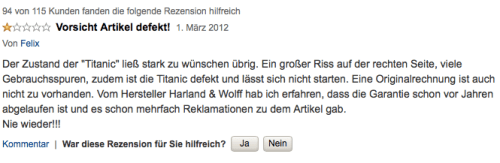 Produkt-Review TITANIC