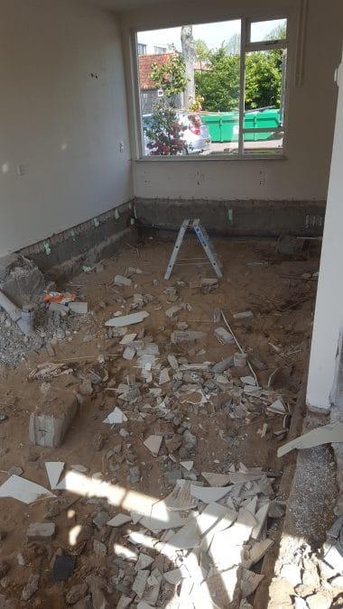 Verbouw woonkamer – Klussen- en bouwbedrijf Geen Punt