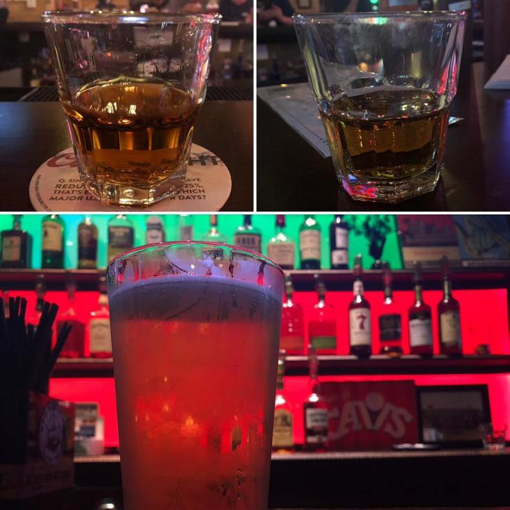 One bourbon, one scotch and one beer