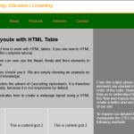 CSS layout: table and multicolumn layouts