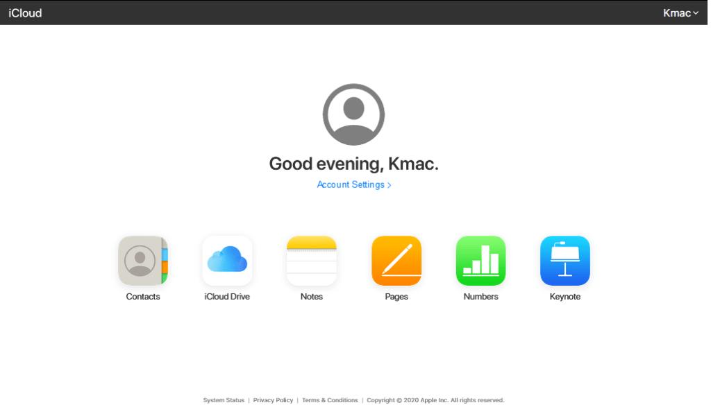 iCloud apps