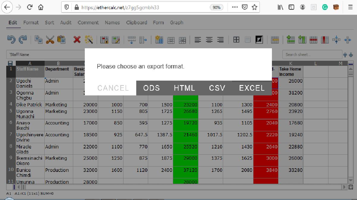 free spreadsheet software - EtherCalc