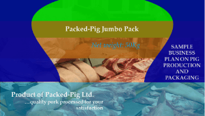 pig production - free sample business plan