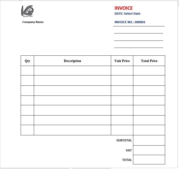 create an invoice document - final