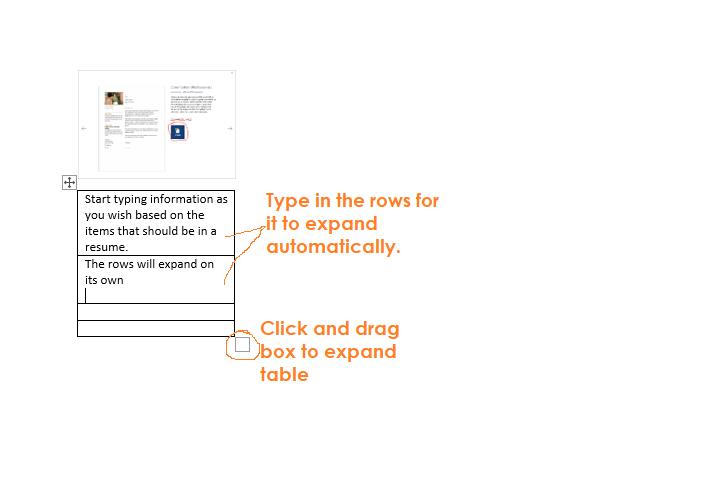 enlarge table in Microsoft Word
