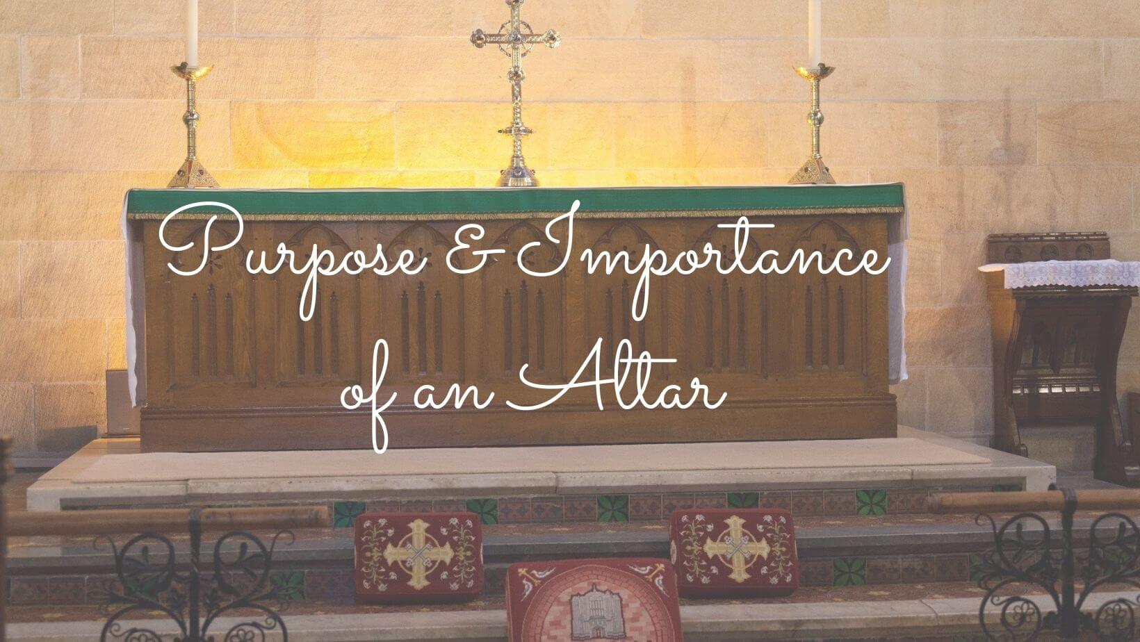 what is an altar in the Bible