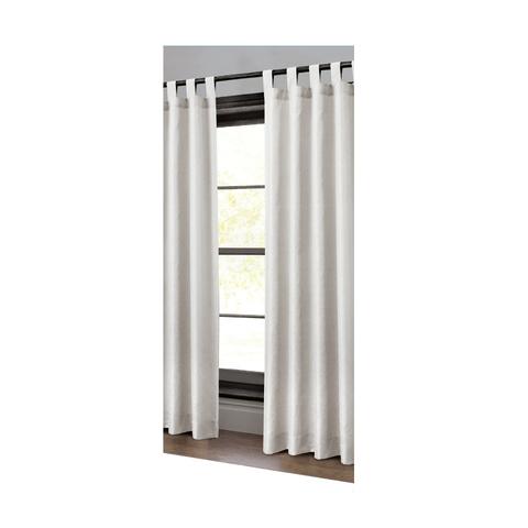 Jacquard Tab Top Curtain Silver Kmart
