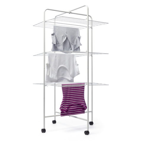 3 Tier Mobile Clothes Airer